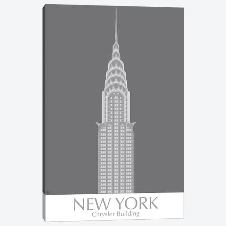 New York Chrysler Building Monochrome Canvas Print #FNK1416} by Fab Funky Canvas Art Print
