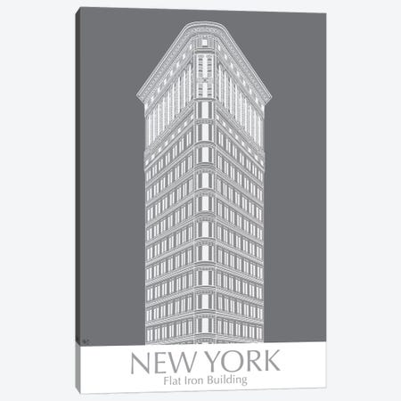 New York Flat Iron Building Monochrome Canvas Print #FNK1421} by Fab Funky Canvas Print