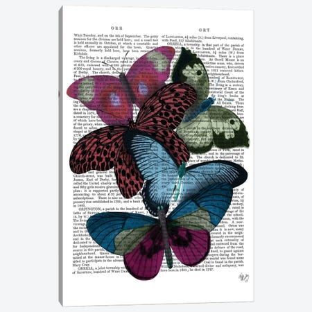 Big Bold Butterflies I Canvas Print #FNK142} by Fab Funky Art Print