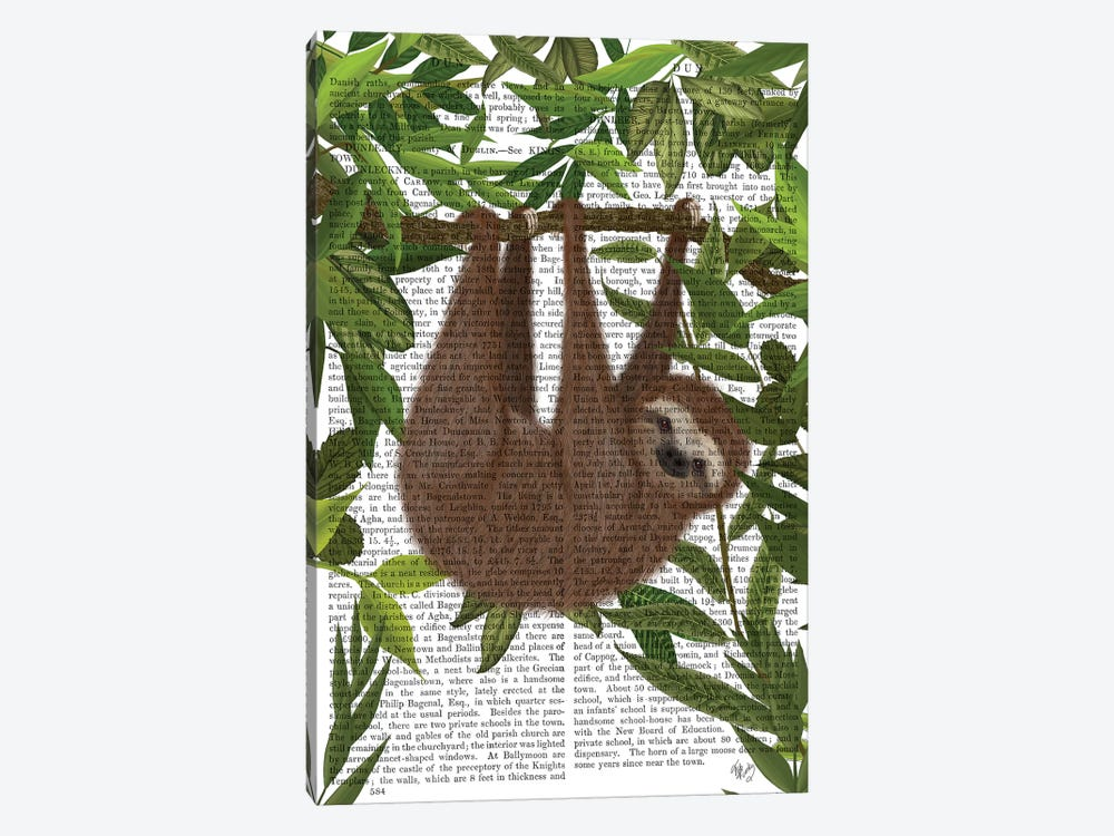 Sloth Hanging Around II by Fab Funky 1-piece Art Print