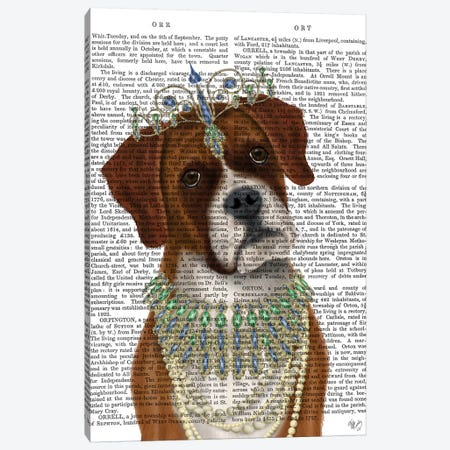 Boxer and Tiara, Portrait II Canvas Print #FNK1458} by Fab Funky Canvas Art