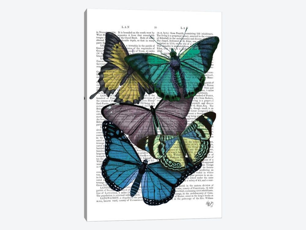 Big Bold Butterflies IV by Fab Funky 1-piece Canvas Art