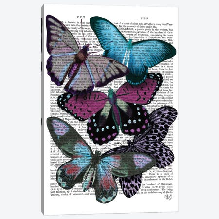 Big Bold Butterflies V Canvas Print #FNK146} by Fab Funky Canvas Wall Art