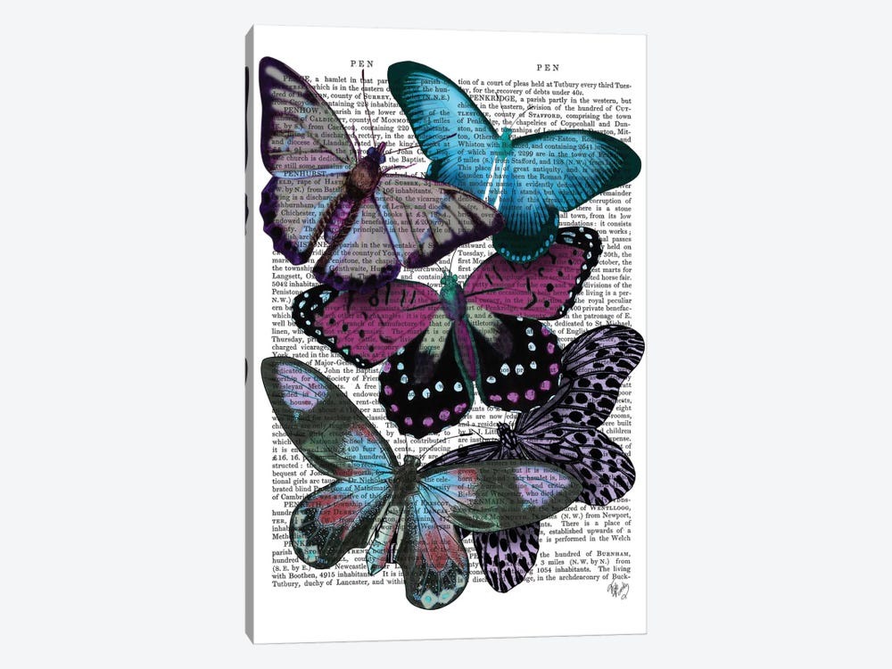 Big Bold Butterflies V by Fab Funky 1-piece Canvas Print