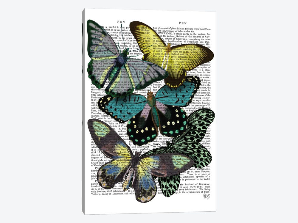 Big Bold Butterflies VI by Fab Funky 1-piece Canvas Wall Art