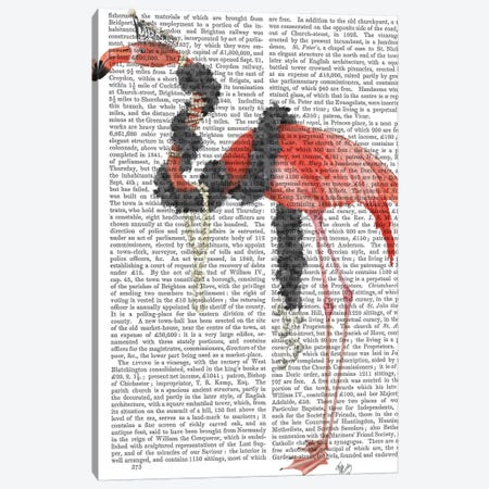 Flamingo and Pearls, Full II Canvas Print #FNK1484} by Fab Funky Canvas Artwork