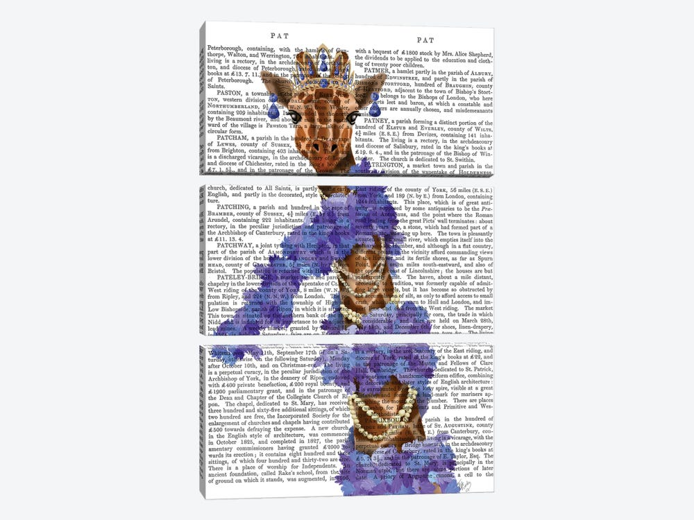 Giraffe with Purple Boa II by Fab Funky 3-piece Canvas Print