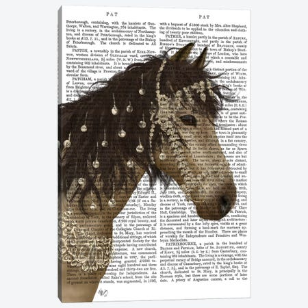 Horse Buckskin with Jewelled Bridle II Canvas Print #FNK1508} by Fab Funky Canvas Art