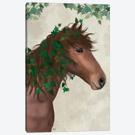 Horse Chestnut with Ivy I Canvas Print #FNK1509} by Fab Funky Canvas Wall Art