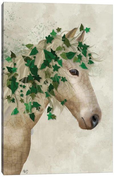 Horse Porcelain with Ivy I Canvas Art Print