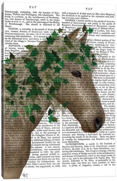 Horse Porcelain with Ivy II Canvas Art Print