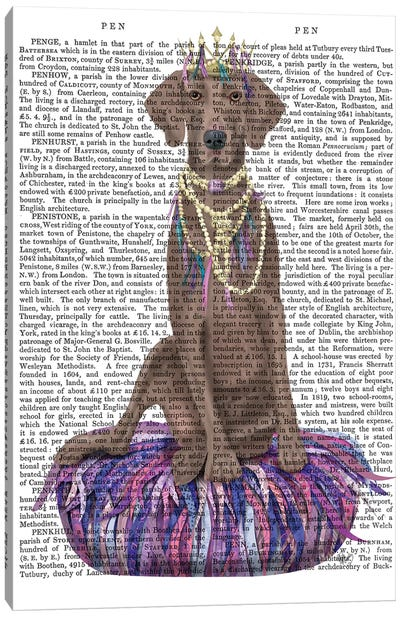 Weimaraner on Purple Cushion II Canvas Art Print
