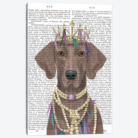 Weimaraner with Tiara II Canvas Print #FNK1548} by Fab Funky Canvas Wall Art