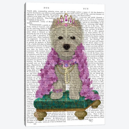West Highland Terrier with Tiara II Canvas Print #FNK1551} by Fab Funky Canvas Art Print