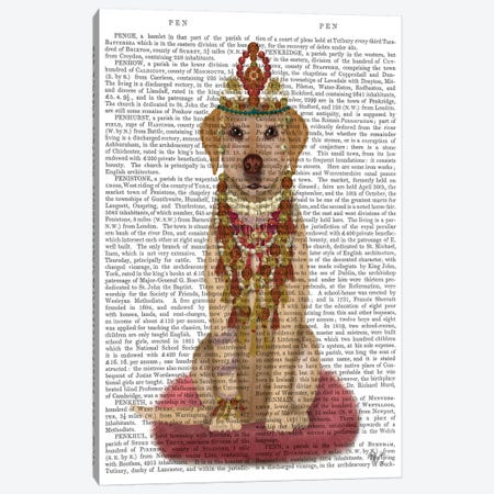 Yellow Labrador and Tiara, Full II Canvas Print #FNK1553} by Fab Funky Canvas Art Print