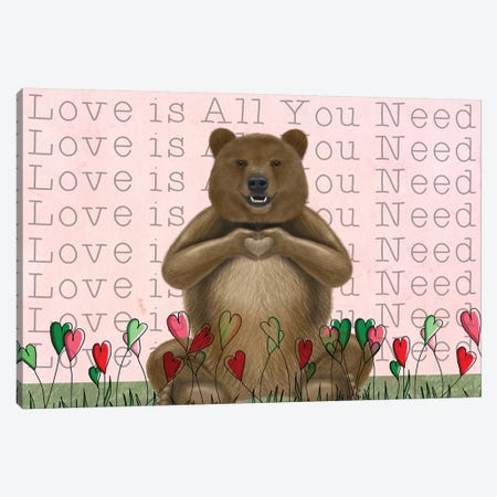 Love is in the Air I Canvas Print #FNK1557} by Fab Funky Canvas Artwork