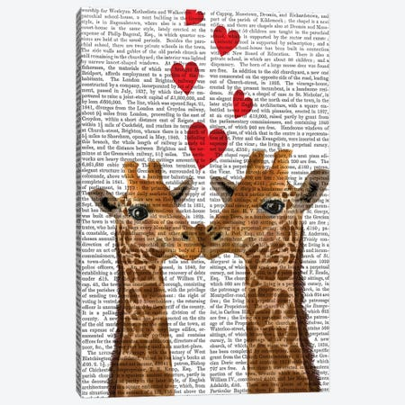 Love is in the Air II Canvas Print #FNK1558} by Fab Funky Canvas Print