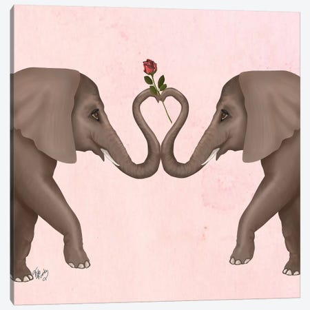 Love is in the Air III Canvas Print #FNK1559} by Fab Funky Canvas Print