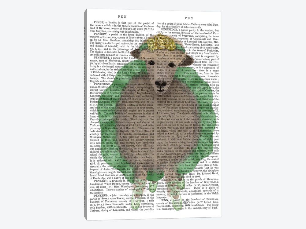 Ballet Sheep 4 Book Print by Fab Funky 1-piece Canvas Wall Art