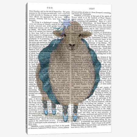 Ballet Sheep 5 Book Print Canvas Print #FNK1577} by Fab Funky Canvas Artwork
