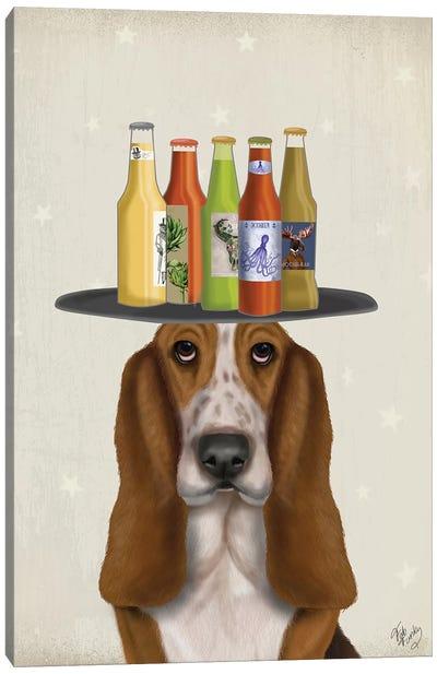 Basset Hound Beer Lover Canvas Art Print