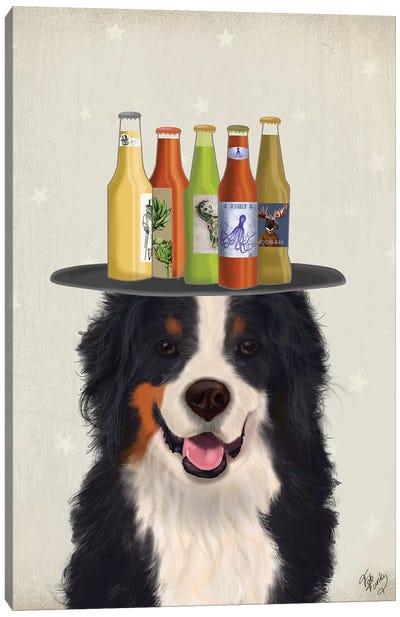 Bernese Beer Lover Canvas Art Print