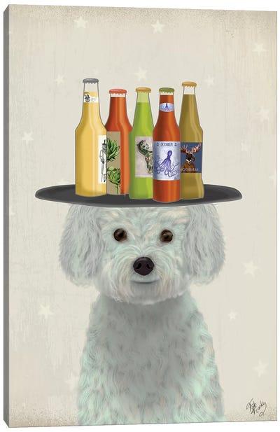 Bichon Frise Beer Lover Canvas Art Print