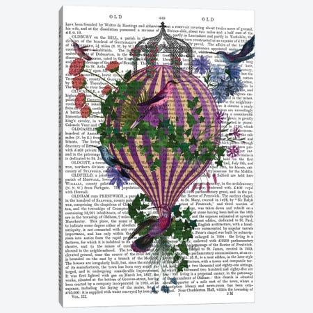 Bird Balloon 1 Book Print Canvas Print #FNK1586} by Fab Funky Art Print