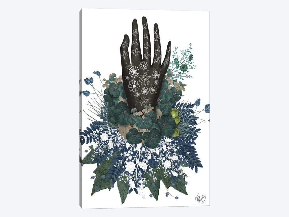 Black Hand II by Fab Funky 1-piece Canvas Art