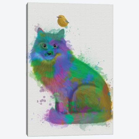 Cat Rainbow Splash 12 Canvas Print #FNK1598} by Fab Funky Canvas Print
