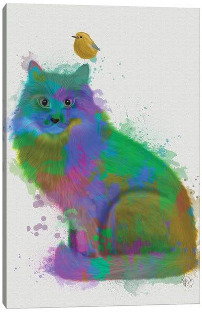 Cat Rainbow Splash 12 Canvas Art Print