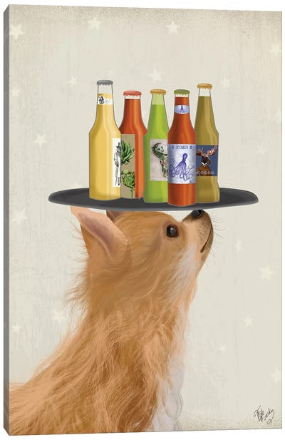 Chihuahua Beer Lover Canvas Art Print