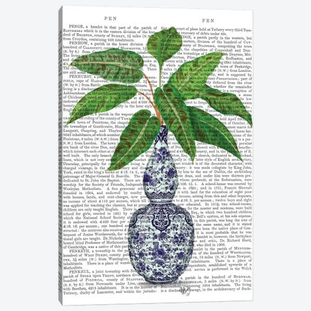 Chinoiserie Vase 1, With Plant Book Print 3-Piece Canvas #FNK1600} by Fab Funky Canvas Print