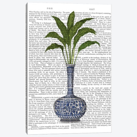 Chinoiserie Vase 3, With Plant Book Print 3-Piece Canvas #FNK1602} by Fab Funky Canvas Art Print