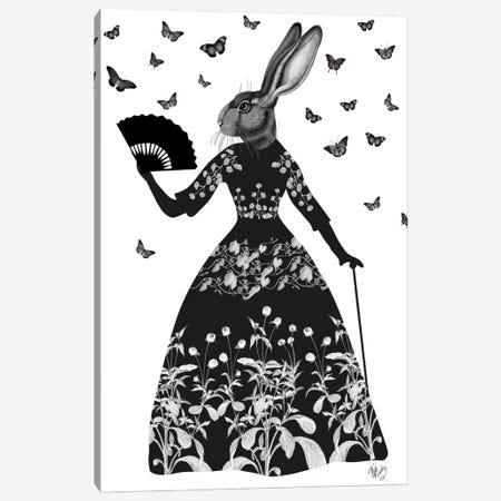 Black Rabbit II Canvas Print #FNK160} by Fab Funky Canvas Art Print