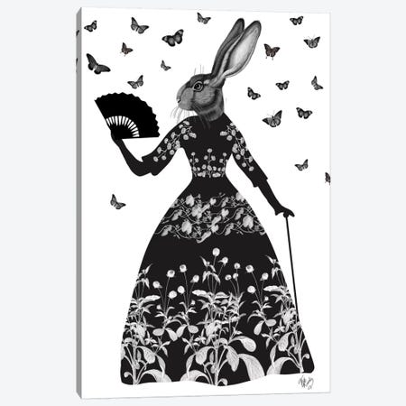 Black Rabbit II Canvas Print #FNK160} by Fab Funky Canvas Art Print