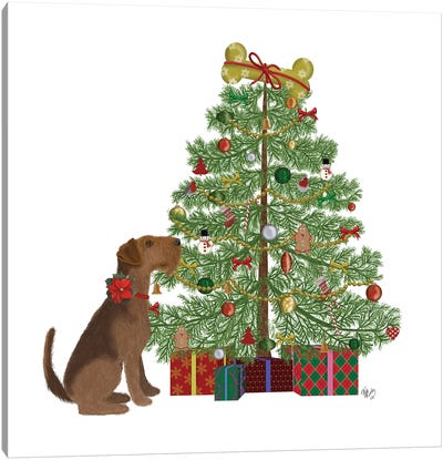 Christmas Des - Bone Tree Canvas Art Print