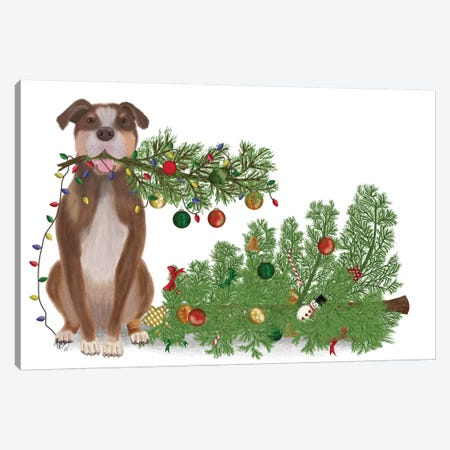 Christmas Des - Broken Tree Canvas Print #FNK1612} by Fab Funky Canvas Artwork