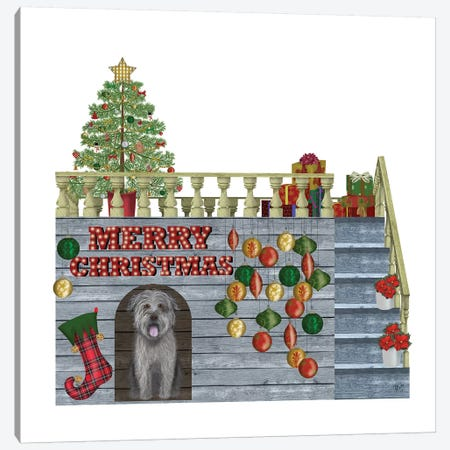 Christmas Des - Christmas Kennel - Bauble Canvas Print #FNK1613} by Fab Funky Canvas Artwork