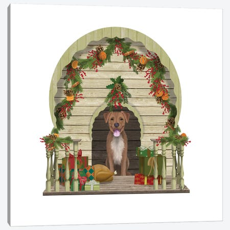 Christmas Des - Christmas Kennel - Williamsburg Canvas Print #FNK1616} by Fab Funky Canvas Print