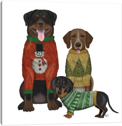 Christmas Des - Ugly Christmas Sweater Competition Canvas Art Print