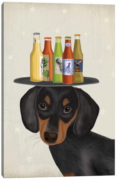 Dachshund Beer Lover Canvas Art Print