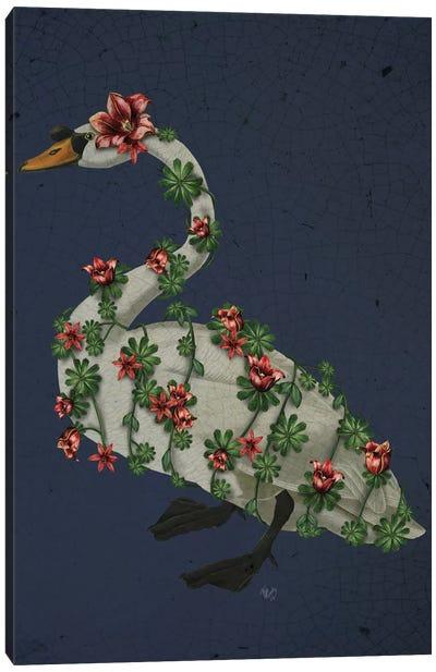 Bound Swan On Blue Canvas Print #FNK164