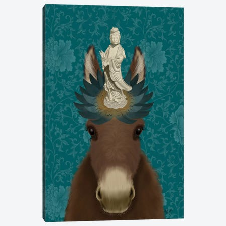 Donkey Bodhisattva Canvas Print #FNK1653} by Fab Funky Canvas Artwork