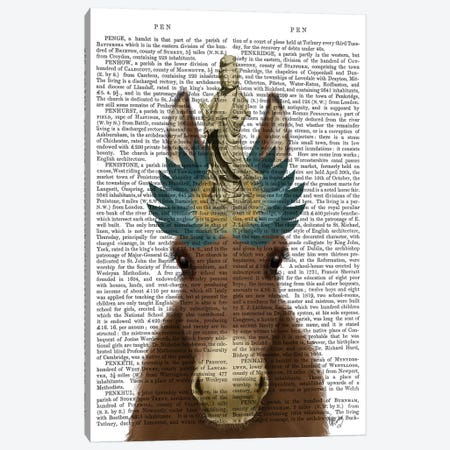 Donkey Bodhisattva Book Print Canvas Print #FNK1654} by Fab Funky Art Print