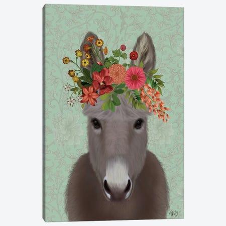 Donkey Bohemian 4 Canvas Print #FNK1660} by Fab Funky Canvas Print