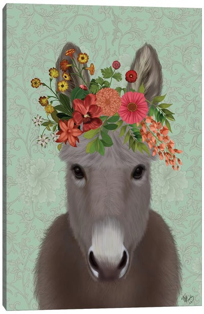 Donkey Bohemian 4 Canvas Art Print