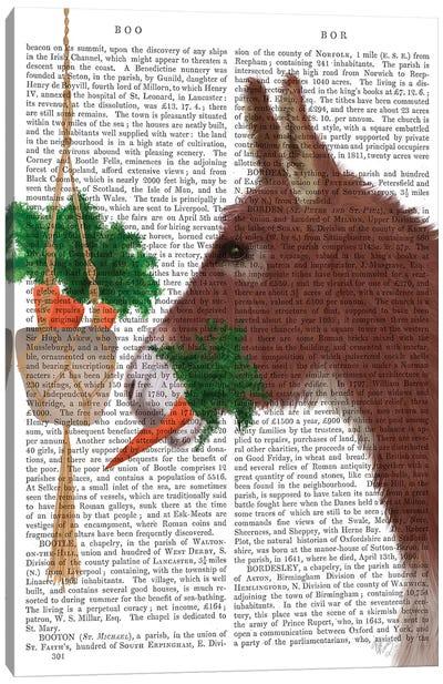 Donkey Lunch Book Print Canvas Art Print