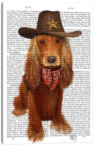 Cocker Spaniel Cowboy Canvas Art Print