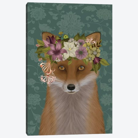 Fox Bohemian Canvas Print #FNK1701} by Fab Funky Canvas Artwork